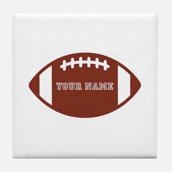 Custom name Football Tile Coaster
