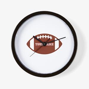Custom name Football Wall Clock
