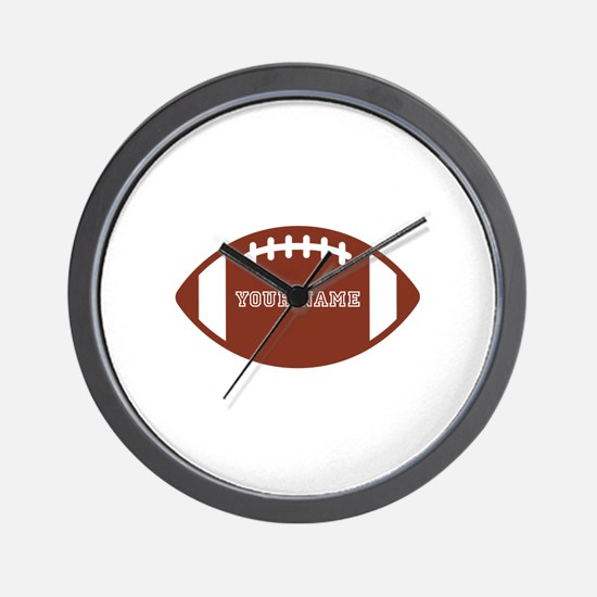 Custom name Football Wall Clock