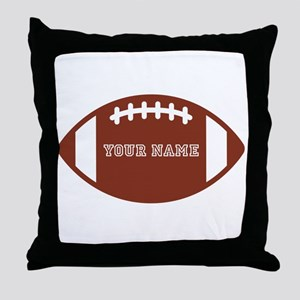Custom name Football Throw Pillow