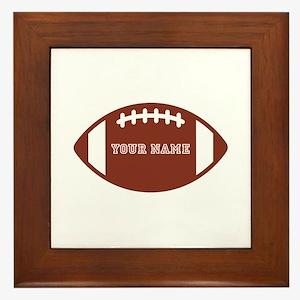 Custom name Football Framed Tile