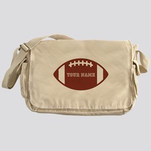 Custom name Football Messenger Bag