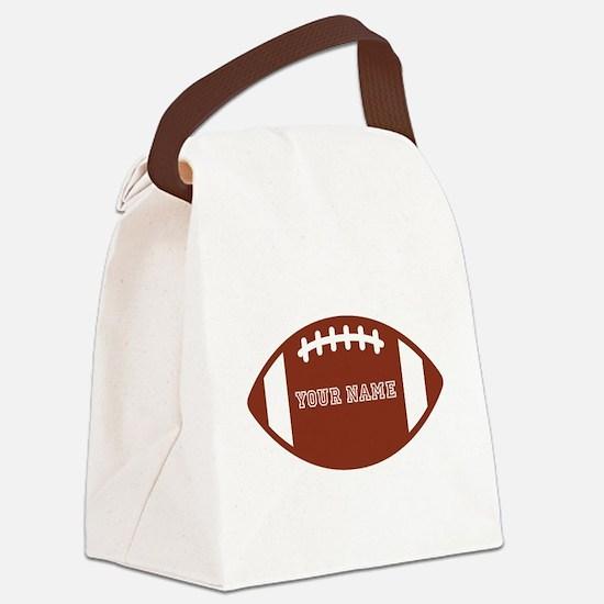 Custom name Football Canvas Lunch Bag