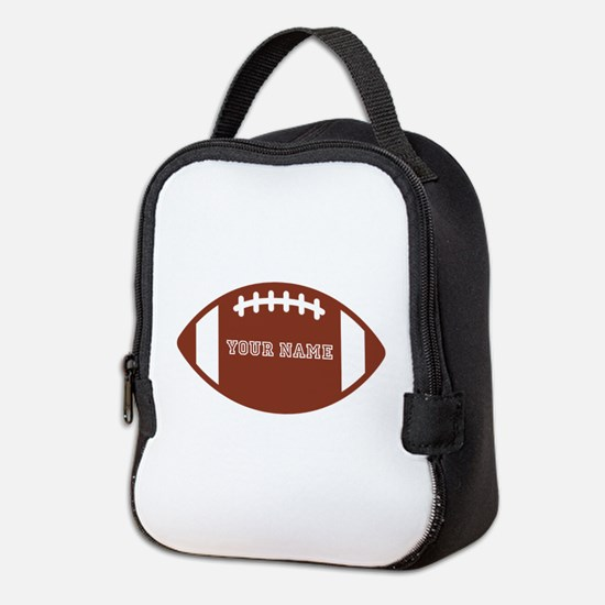 Custom name Football Neoprene Lunch Bag