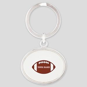 Custom name Football Oval Keychain