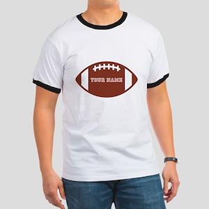 Custom name Football Ringer T