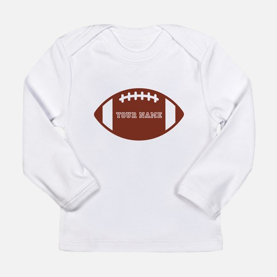 Custom name Football Long Sleeve Infant T-Shirt