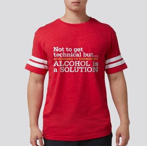 Alcohol is a solution Mens Football Shirt