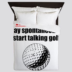 Spontaneous Golf Talk Queen Duvet