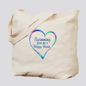 Swimming Happy Heart Tote Bag