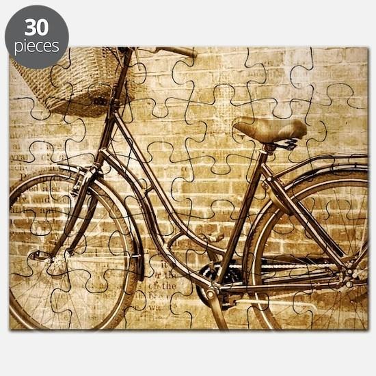 vintage Bicycle fashion art Puzzle