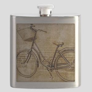 vintage Bicycle fashion art Flask