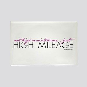 Just High Mileage Rectangle Magnet