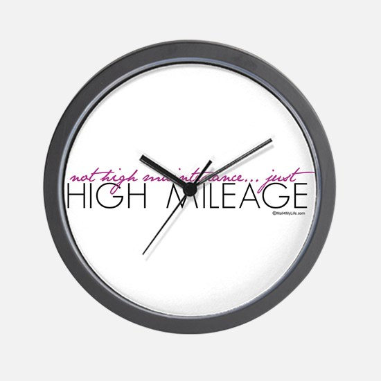 Just High Mileage Wall Clock