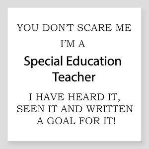 "Special Education Teache Square Car Magnet 3"" x 3"""