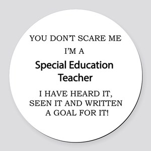 Special Education Teacher Round Car Magnet