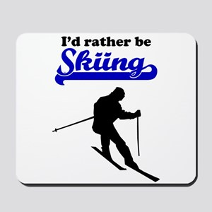 Id Rather Be Skiing Mousepad