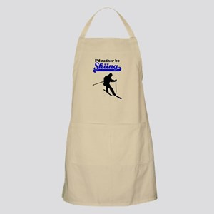 Id Rather Be Skiing Apron