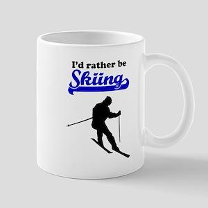 Id Rather Be Skiing Mugs