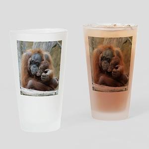 OrangUtan001 Drinking Glass