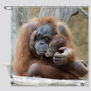 OrangUtan001 Shower Curtain