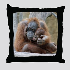 OrangUtan001 Throw Pillow