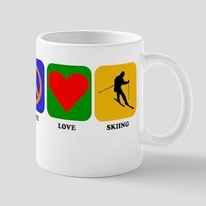 Peace Love Skiing Mugs