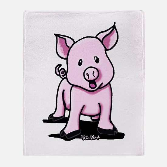 Chatty Pig Throw Blanket