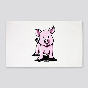 Chatty Pig 3'x5' Area Rug