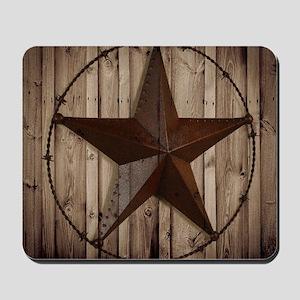 barnwood texas star Mousepad