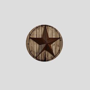 barnwood texas star Mini Button