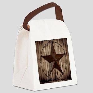 barnwood texas star Canvas Lunch Bag