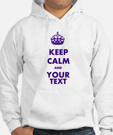 Personalized Keep Calm Jumper Hoody