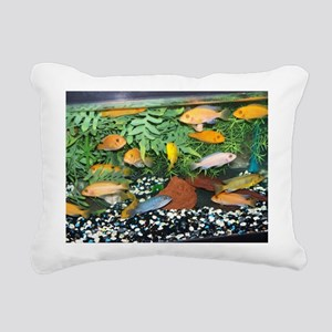 Cichlid Tank Rectangular Canvas Pillow
