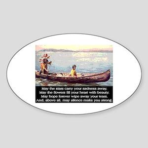 THE WISDOM OF SILENCE Sticker (Oval)
