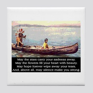 THE WISDOM OF SILENCE Tile Coaster