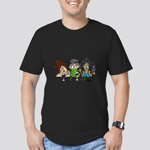 Friends and Wine Men's Fitted T-Shirt (dark)