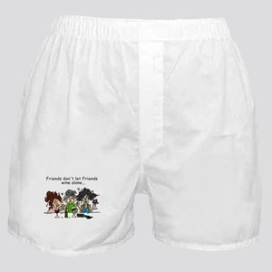 Friends and Wine Boxer Shorts