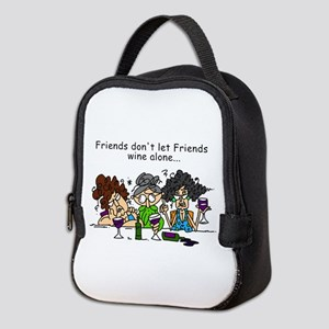 Friends and Wine Neoprene Lunch Bag