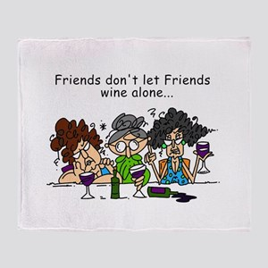 Friends and Wine Throw Blanket
