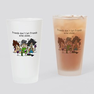 Friends and Wine Drinking Glass