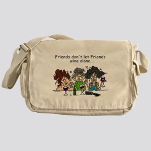 Friends and Wine Messenger Bag