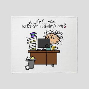 Download Life Humor Throw Blanket