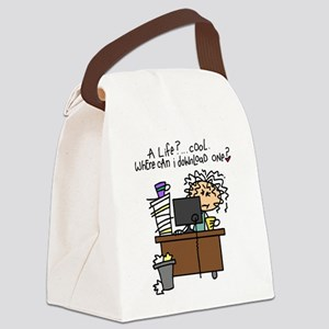 Download Life Humor Canvas Lunch Bag
