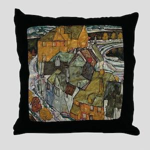 Island Town by Egon Schiele Throw Pillow