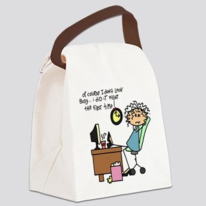Right the First Time Canvas Lunch Bag