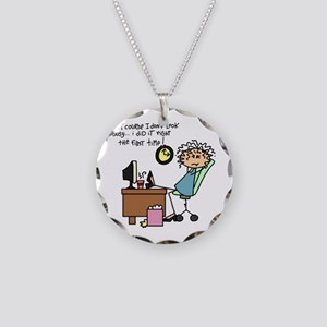 Right the First Time Necklace Circle Charm