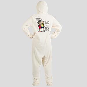Marriage Humor Footed Pajamas