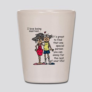 Marriage Humor Shot Glass