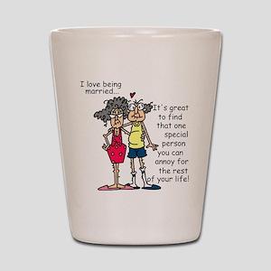 Marriage Humor Shot Glass